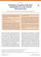 Amerika'da Yayınlanan Akıllı Lensler Konusundaki Araştırmam